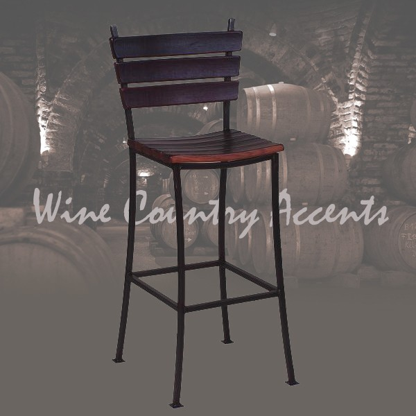4087 Stave Back Bar Stool Wine Barrel Stave Bar Stool