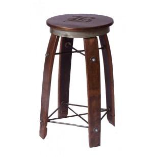 Daisy 2 Day Designs Wine Barrel Stave Bar Stool Swivel Top