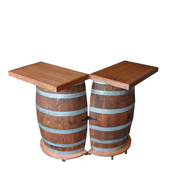 Wine barrel portable folding bar napa east wine country accents for Barrell fold