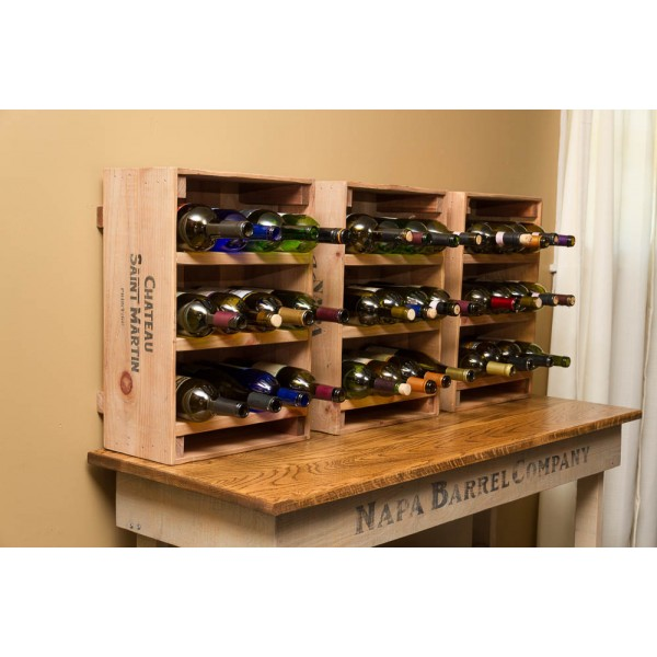 crate wine rack wine crate 12 bottle wine rack napa east wine country 30215