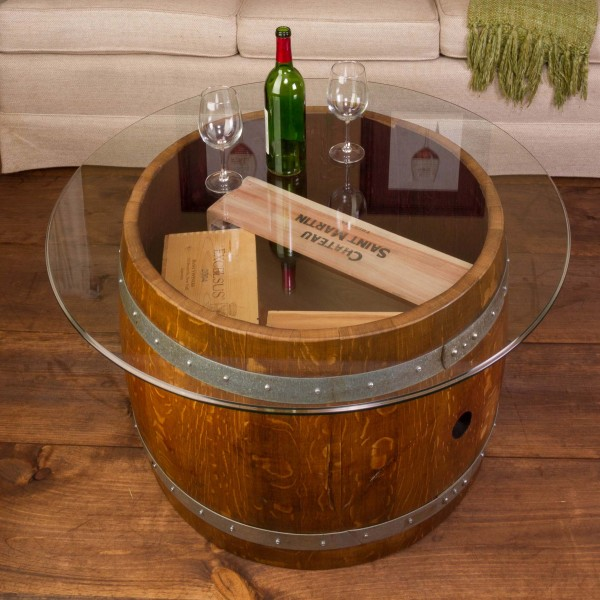 Glass Top Crate Coffee Table Napa East Wine Country Accents