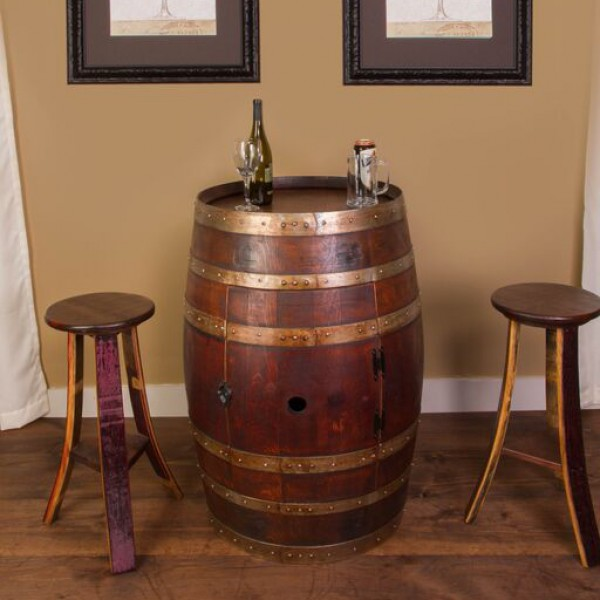 Wine Barrel Cabinet Set Napa East Collection Wine