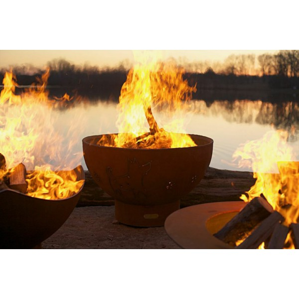 Crater Fire Pit Art By Rick Wittrig Outdoor Fireplaces