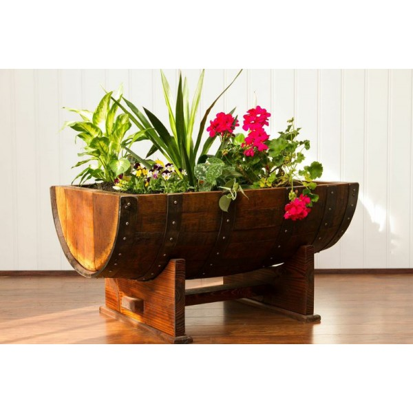 Sonoma Barrel Planter Napa East Collection Wine Country