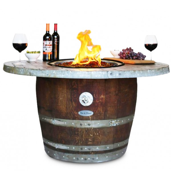 Wine Barrel Fire Pit Estate Stave Top Vin De Flame Wine