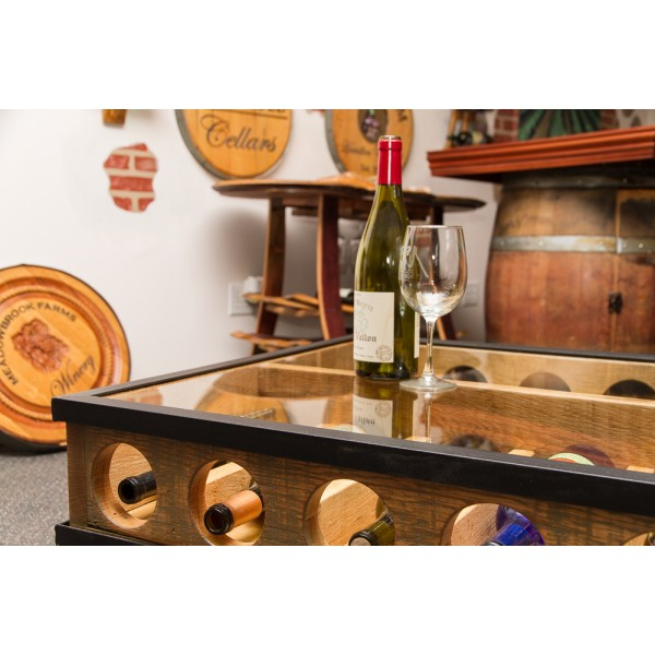 Glass Top Coffee Table Wine Rack. PrevNext