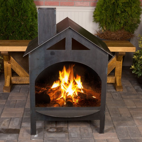 Fire Haus Steel Outdoor Fireplaces Wine Country Accents