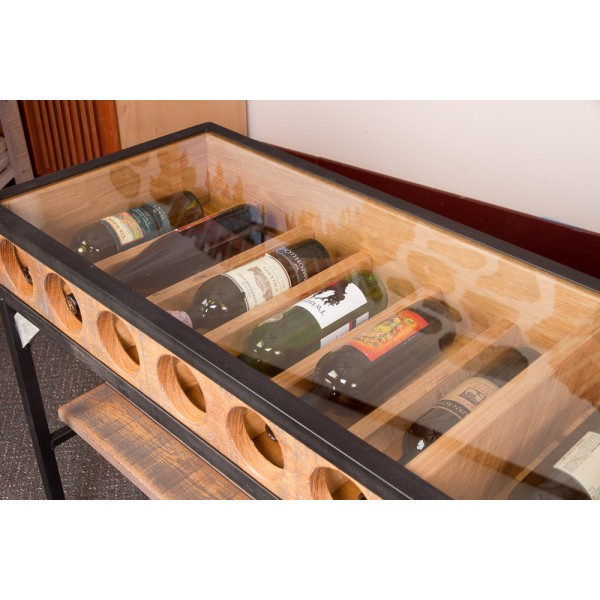 Glass Top Console Table Wine Rack Napa East Wine Country Accents
