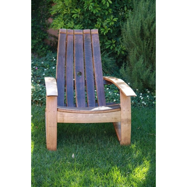Wine Barrel Stave Classic Adirondack Chair Wine Country