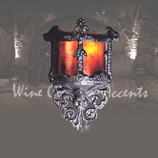 Lf100 Mini Gothic Wall Sconce Mica Lamp Company Vintage