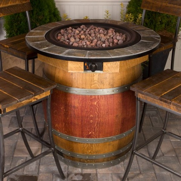 Wine Barrel Fire Pit Table Part - 16: 1122 Wine Barrel Fire Pit Table Napa East