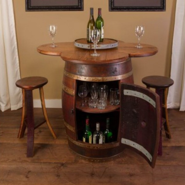 Wine Barrel Table Set Napa East Collection ...