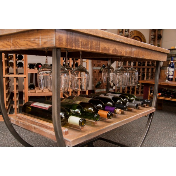 Vintage Wine Rack Cart Napa East Wine Country Accents