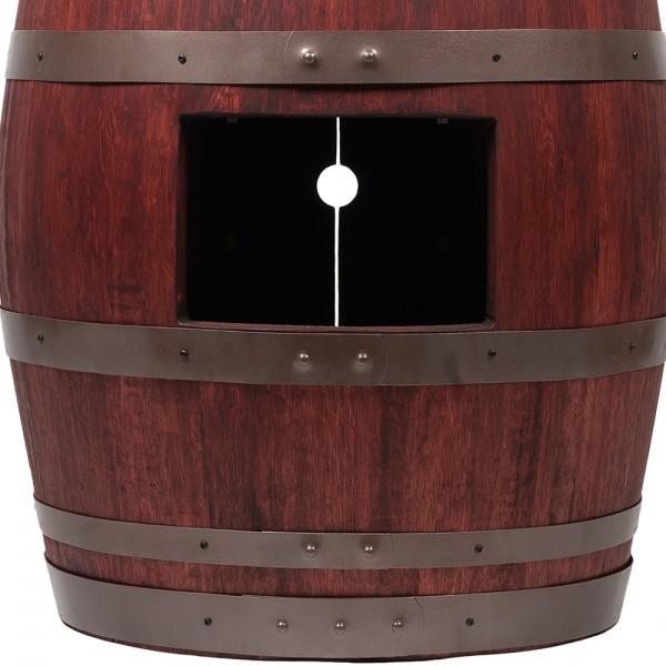 Wine barrel vanity package with bath tub vessel sink for Bathroom vanity packages