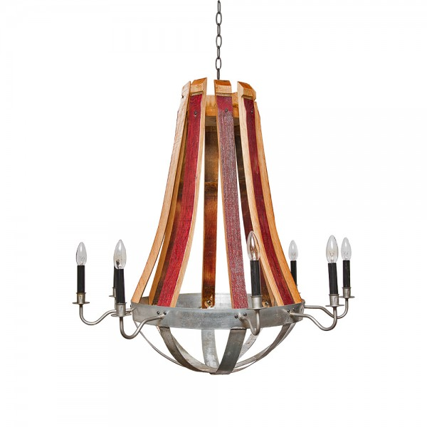 Wine barrel chandelier napa east wine country accents wine barrel chandelier napa east aloadofball Images