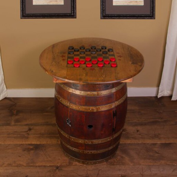Whiskey Barrel Game Table Napa East Collection Wine