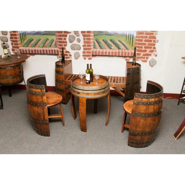 Sonoma Barrel Table Set Napa East Collection - Wine Country Accents