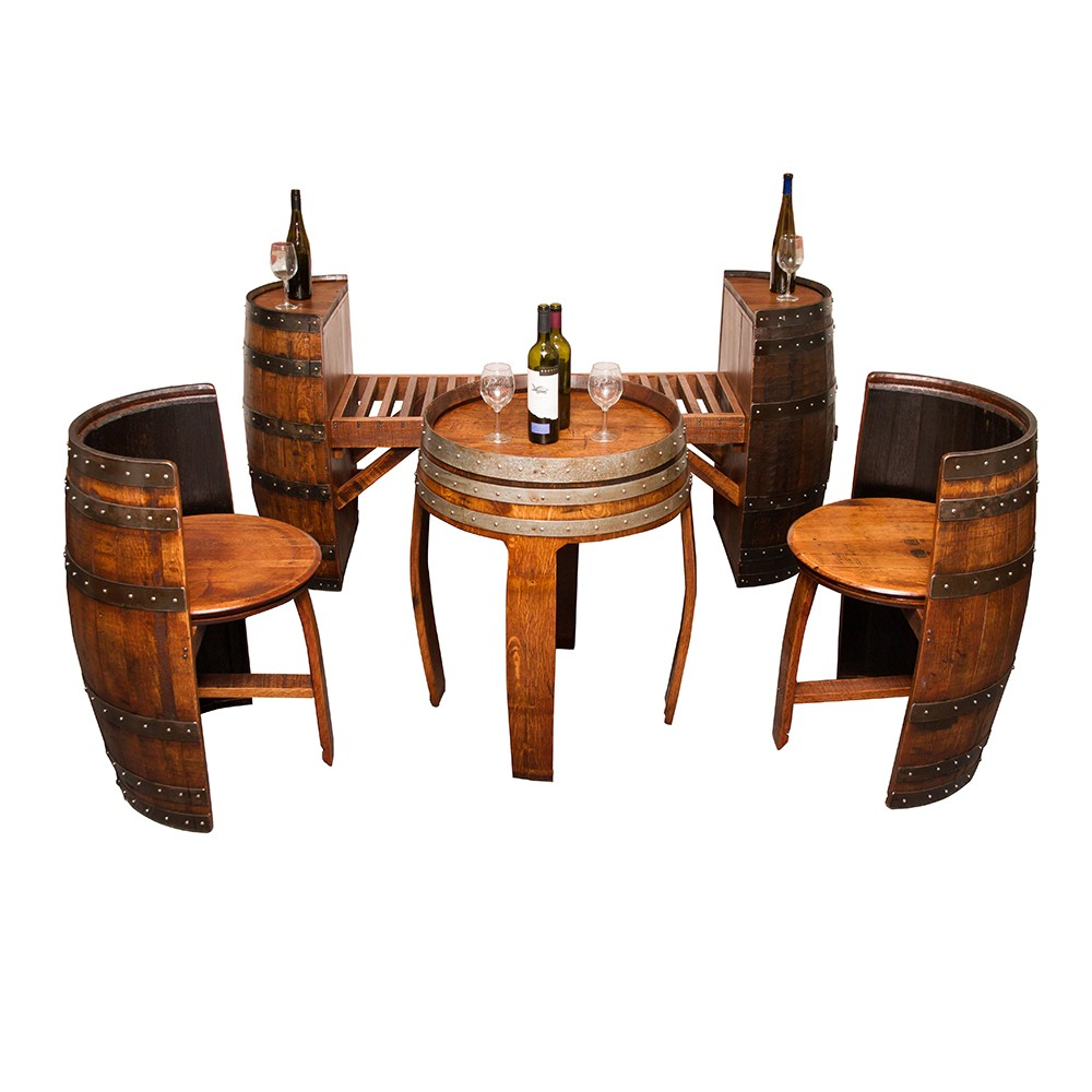 Sonoma Barrel Table Set Napa East Collection Wine