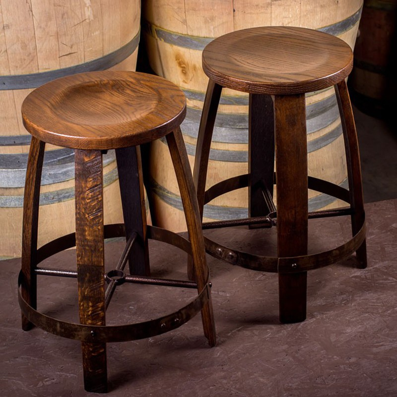 Barrel Ring Barstool By The Oak Barrel Company Wine