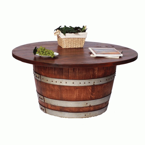 Half Wine Barrel Cocktail Table 2 day designs 2day designs Wine
