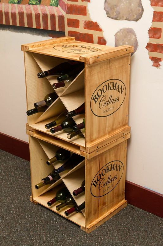 Wine Crates Part - 17: Personalized Wine Crate Rack Napa East