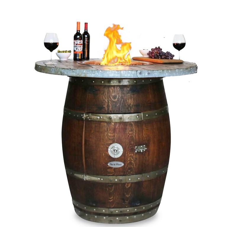 Vin De Flame Grand Barrel Wood Stave Fire Pit Vin De