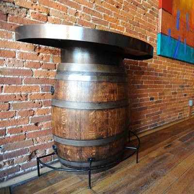 The Oak Barrel Company Half Wine Barrel Bistro Table