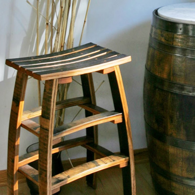 Wine Barrel Stave Backless Bar Stools The Oak Barrel Company