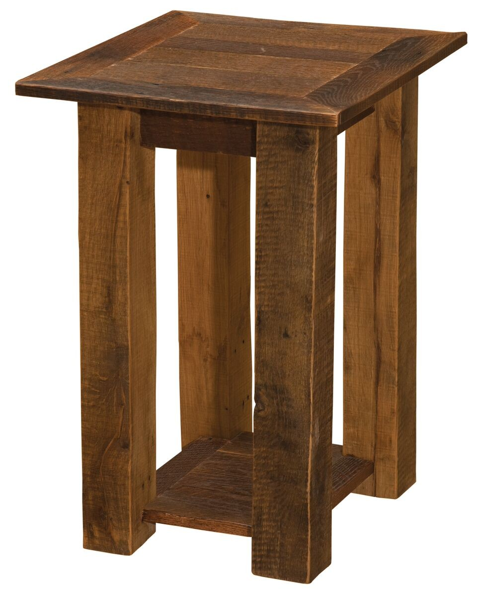 Barnwood Open End Table Fireside Occasional Wine Country