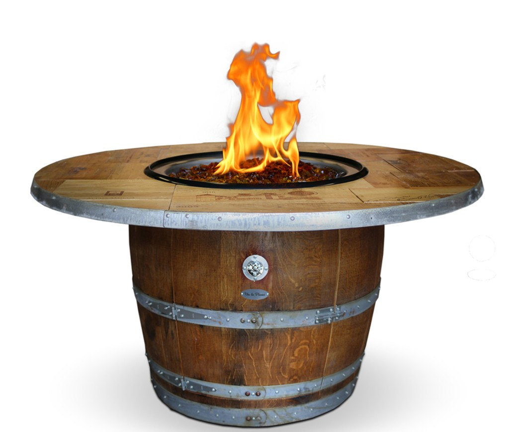 Vin De Flame Wine Barrel Fire Pit Vintage Wood Reserve