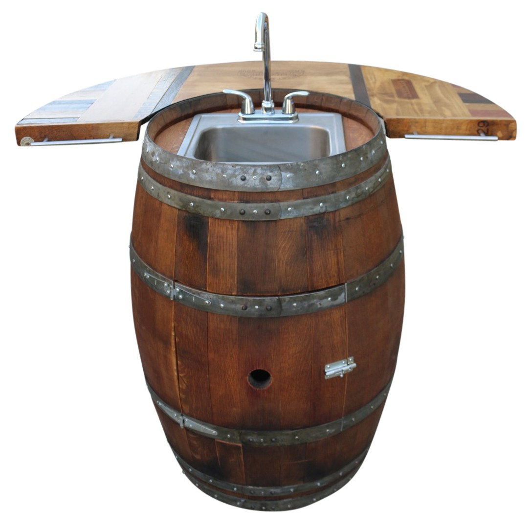 Wine Barrel Wet Bar Green Barrel