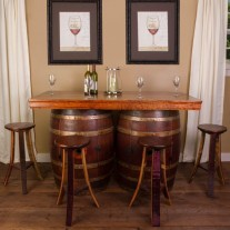 Wine Barrel Bar Island Set Napa East Collection