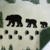 Pearl Denali Bear Throw Blanket by Denali