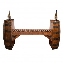 Split Wine Barrel Bench Napa East Collection