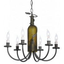 112640 Green Wine Bottle Chandelier Meyda Tiffany