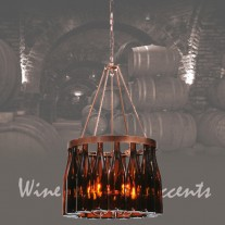 114513 Tuscan Wine Bottle Chandelier Meyda Tiffany