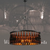119239 Tuscan Wine Bottle Chandelier Meyda Tiffany