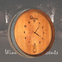144 Wine Barrel Clock by Wine Barrel Creations