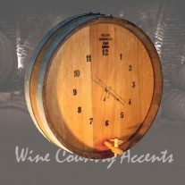 144S Wine Barrel Clock Wine Barrel Creations