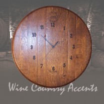 146 Wine Barrel Clock Wine Barrel Creations