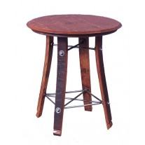 """158 Wine Barrel Side Table by 2 Day Designs 24"""""""