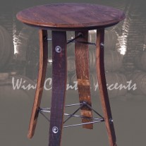 """159 Wine Barrel Side Table by 2 Day Designs 28"""""""