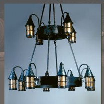 LF203/12 Cottage 2 Tier 12 Lantern Chandelier by Mica Lamps