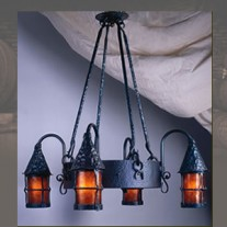 LF203 Cottage 4 Lantern Chandelier by Mica Lamps