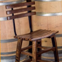 Wine Stave Backed Bar Stools by The Oak Barrel Company