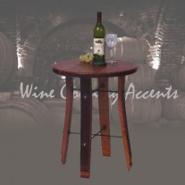 4064 Round Stave End Table by 2 day designs
