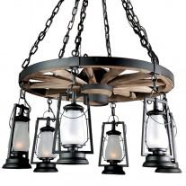 Wagon Wheel Chandeliers 49er Sutter's Mill Lantern
