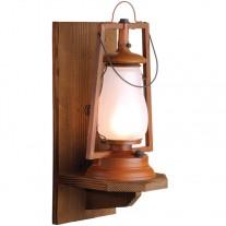 Sutter's Mill Lantern 49er Wood Wall Mount Rustic Lantern