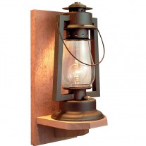 Sutter's Mill Lantern Pioneer Wood Wall Mount