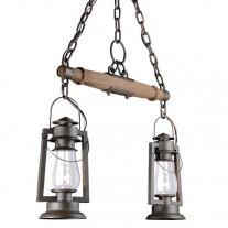 Pioneer Western Lantern Yoke Mount & Shade Chandelier